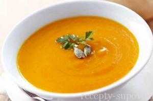 Тыквенный суп с фасолью и имбирем